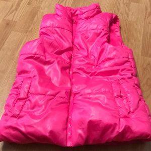 Justice Girls winter vest pink 12/14